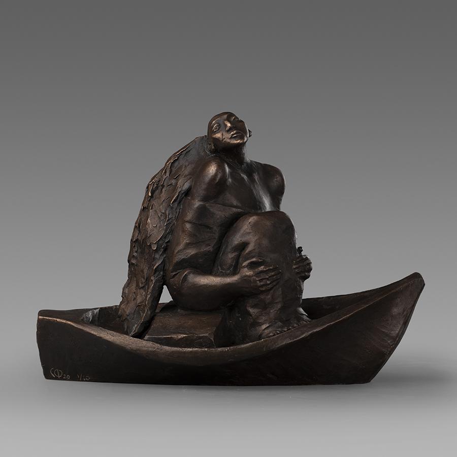 С течением времени ангел бронзовая скульптура