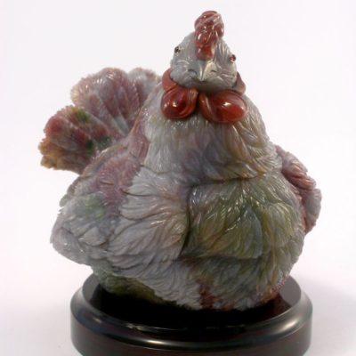 Курица из халцедона 118