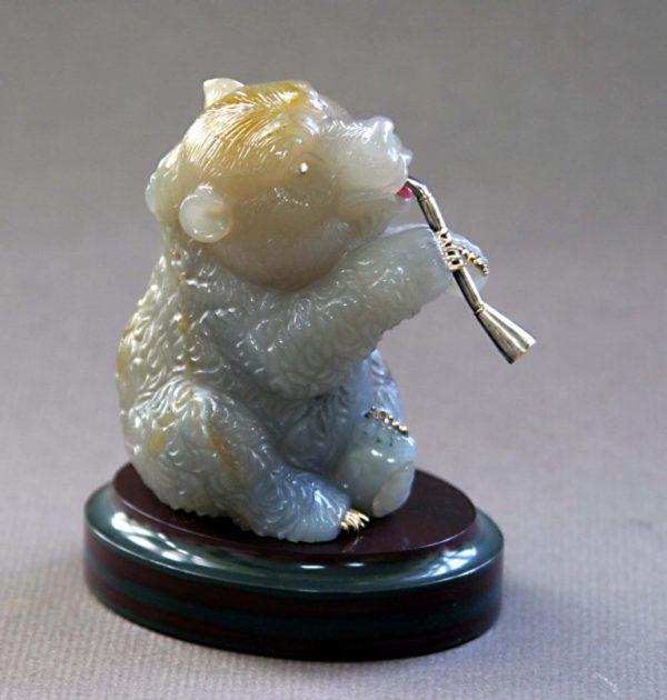 Медвежонок с рожком 051