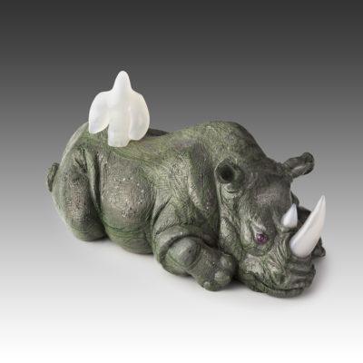 Носороги из камня