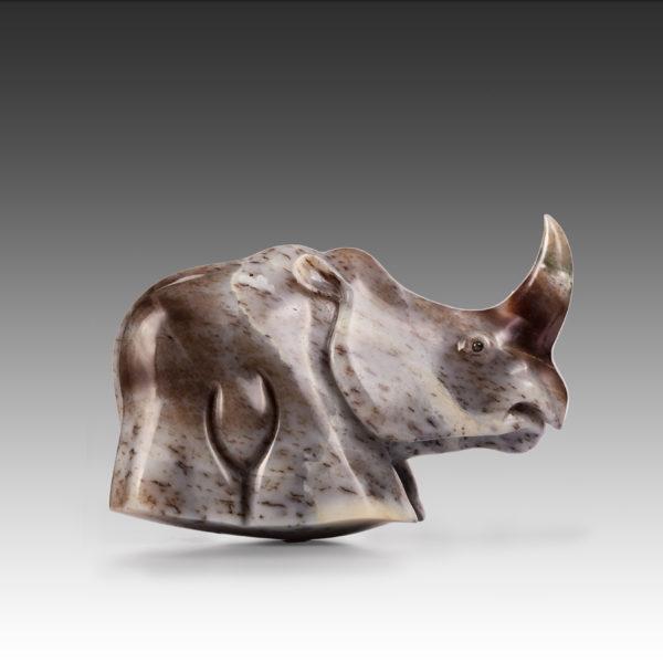 """Носорог серии """"Качающаяся Африка"""" из нефрита"""