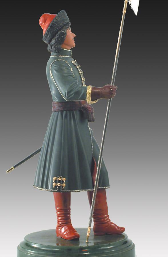 Петр I в форме сержанта лейб гвардии Преображенского полка