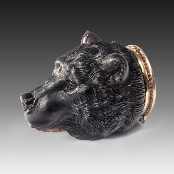 Медведь-шкатулка с эмалью