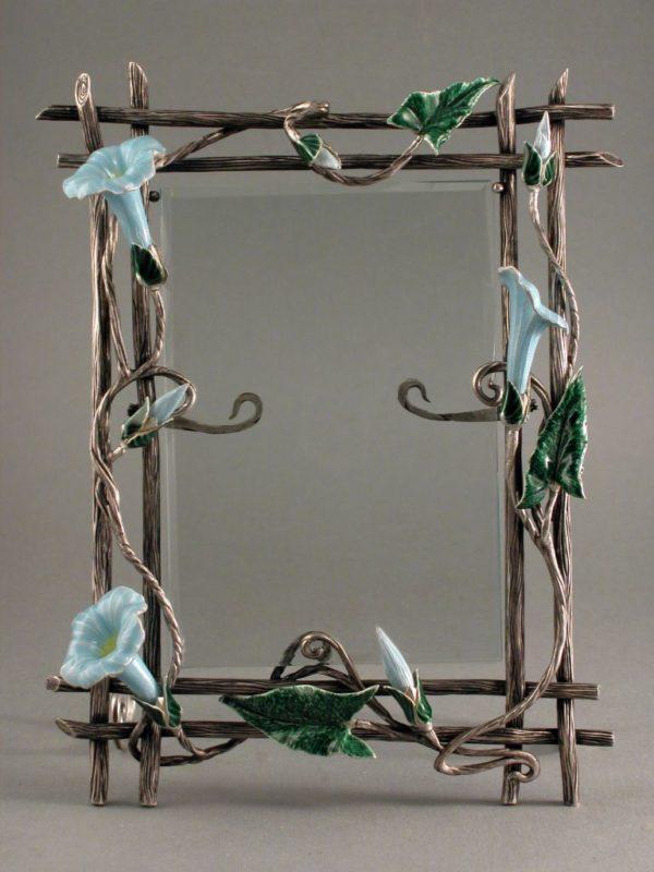 Рамка из серебра Цветы для фотографий