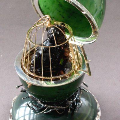 Яйцо-шкатулка Кот 027