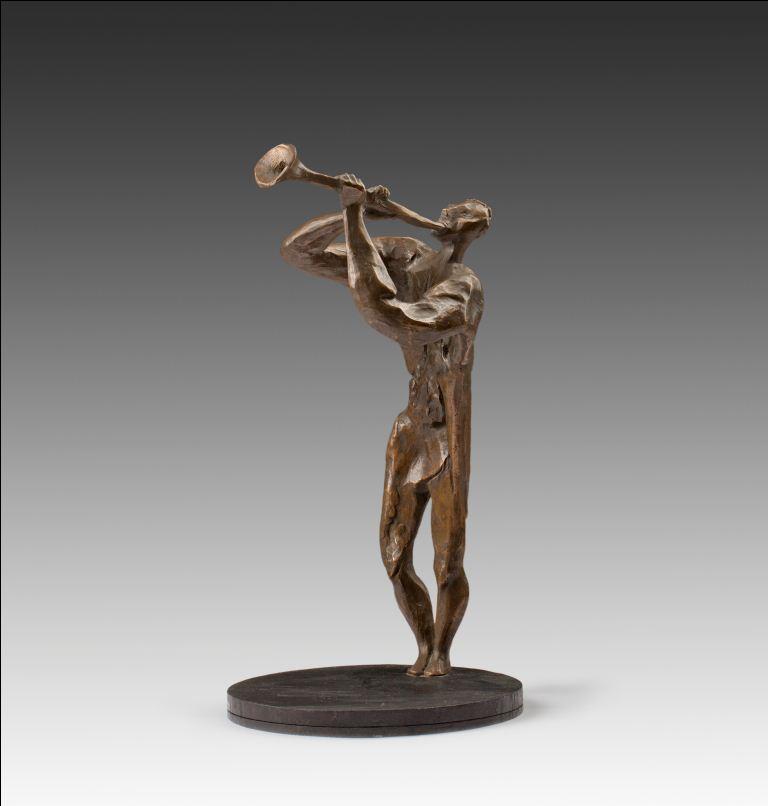 Трубач бронзовая скульптура